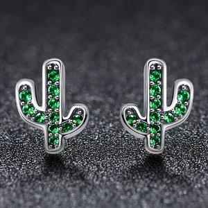 Cercei din argint Glittering Cactus