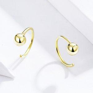 Cercei din argint Golden Tiny Hoops
