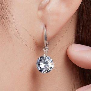 Cercei din argint Hanging Diamond
