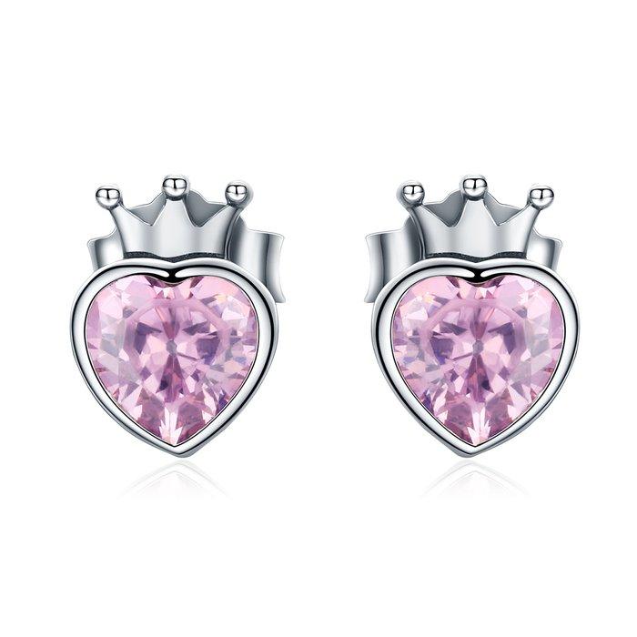 Cercei din argint Heart of Crown poza 2021