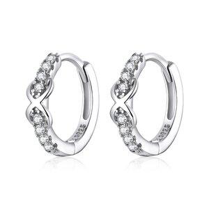 Cercei din argint Infinite Hoops