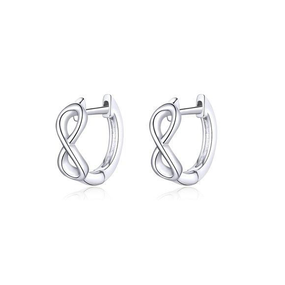 Cercei din argint Infinite Little Hoops