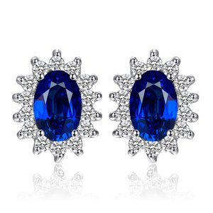 Cercei din argint Kate's Elegant Sapphire