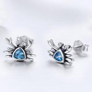 Cercei din argint Little Blue Crab