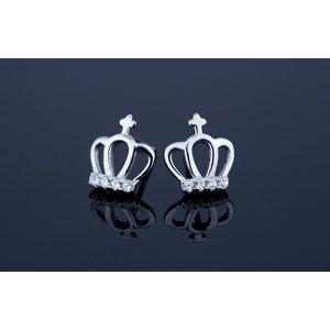 Cercei din argint Little Crown