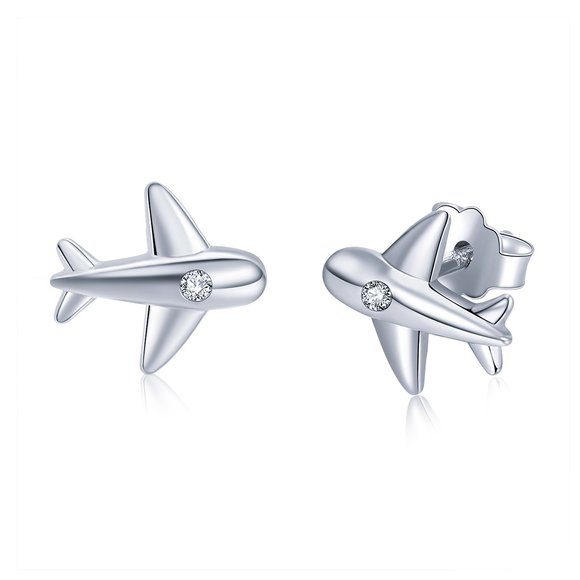 Cercei din argint Little Planes