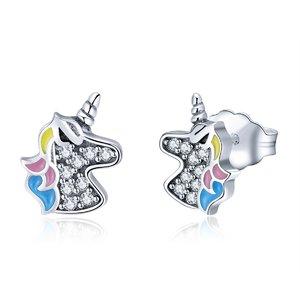 Cercei din argint Little Shiny Unicorns