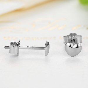 Cercei din argint Little Sweet Hearts silver