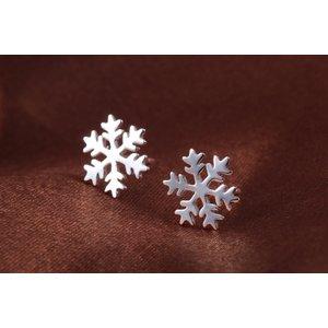 Cercei din argint Little White Snowflake
