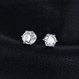 Cercei din argint Little White Topaz Dots