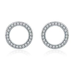Cercei din argint Luminous Round Circle