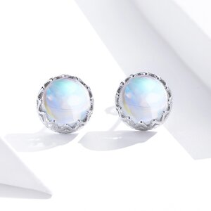 Cercei din argint Moonstones