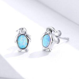 Cercei din argint Opal Penguin