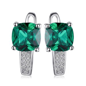 Cercei din argint Perfect Emerald