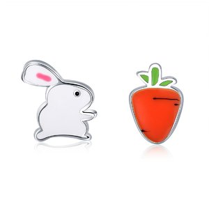 Cercei din argint Rabbit and Carrot