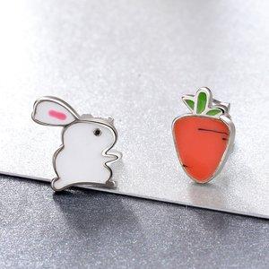 Cercei din argint Rabbit and Carrot