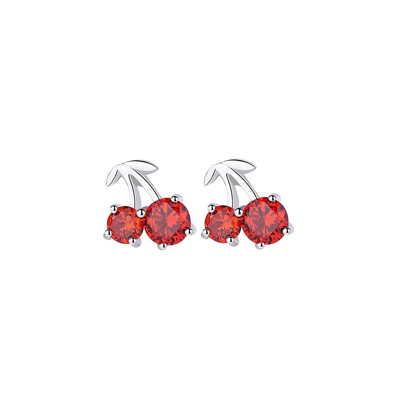 Cercei din argint Red Cherries poza 2021