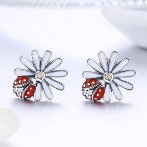 Cercei din argint Red Ladybug