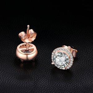 Cercei din argint Rose Gold Diva