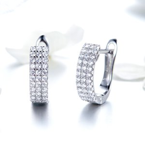 Cercei din argint Shining Crystals