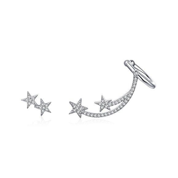 Cercei din argint Silver Comet