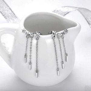 Cercei din argint Silver Drop Stars