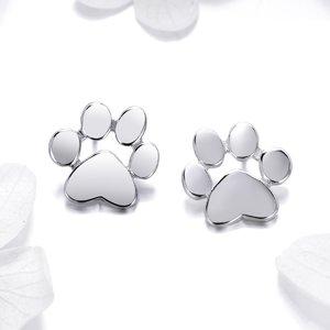 Cercei din argint Silver Paws