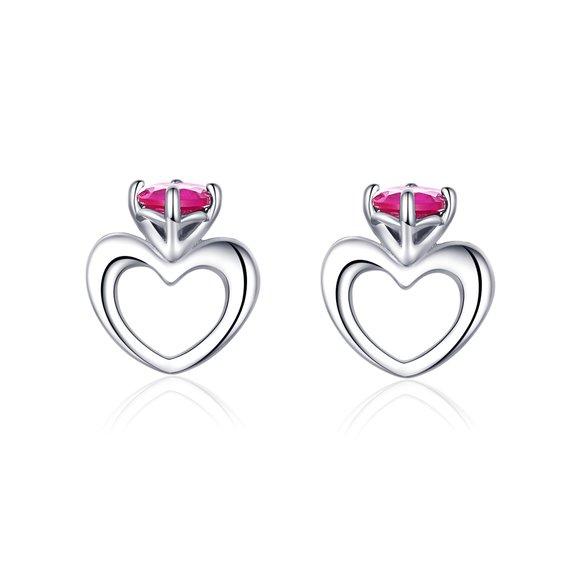Cercei din argint Small Hearts Earrings