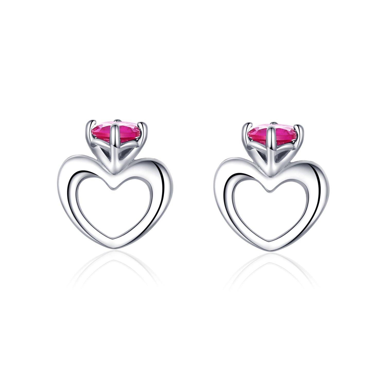 cercei din argint small hearts earrings 68061 4