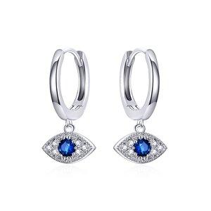 Cercei din argint Sparkling Eye Hoops