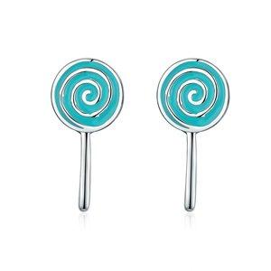 Cercei din argint Turquoise Lollypop