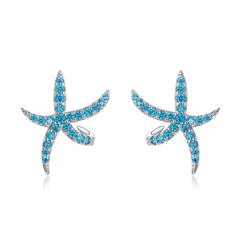 Cercei din argint Turquoise Sea Star