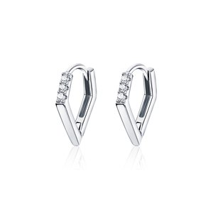 Cercei din argint V Shape Hoops