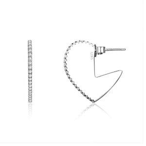 Cercei din argint Valentine Heart