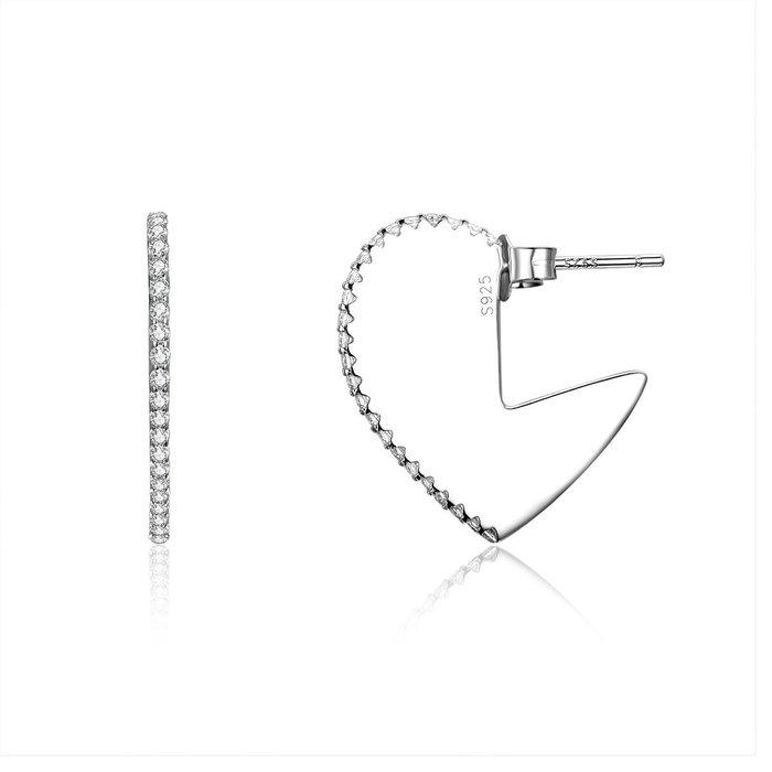 Cercei din argint Valentine Heart poza 2021