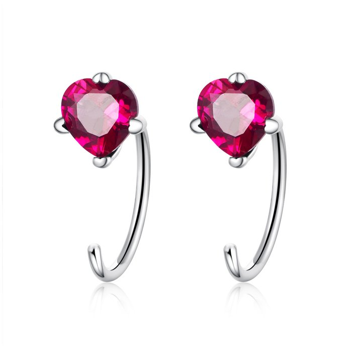 Cercei din argint Valentines Heart poza 2021