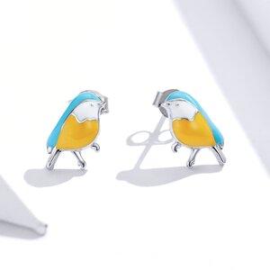 Cercei din argint Yellow Birds