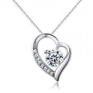 Colier cu lantisor din argint Diamond Heart
