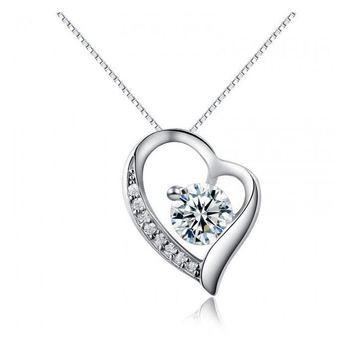 Colier cu lantisor din argint Diamond Heart poza 2021