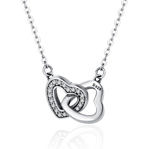 Colier din argint 925 Connected Hearts