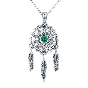 Colier din argint 925 Dream Catcher green