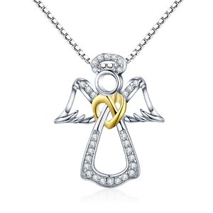 Colier din argint 925 Guardian Angel Heart