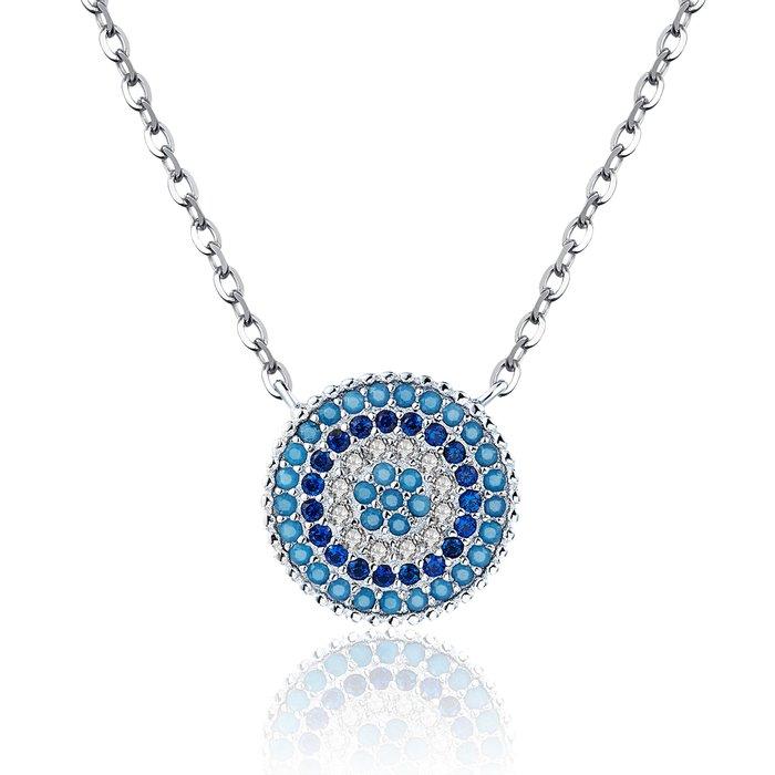 colier din argint 925 lucky blue crystal 55890 4