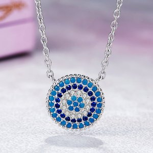 Colier din argint 925 Lucky Blue Crystal