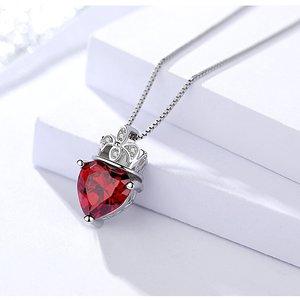 Colier din argint Beautiful Red Heart