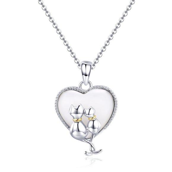 Colier din argint Couple in Love