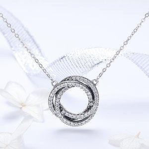 Colier din argint Crystals Duet