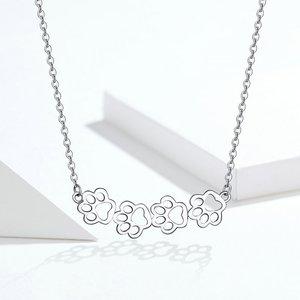 Colier din argint cu Labute Argintii