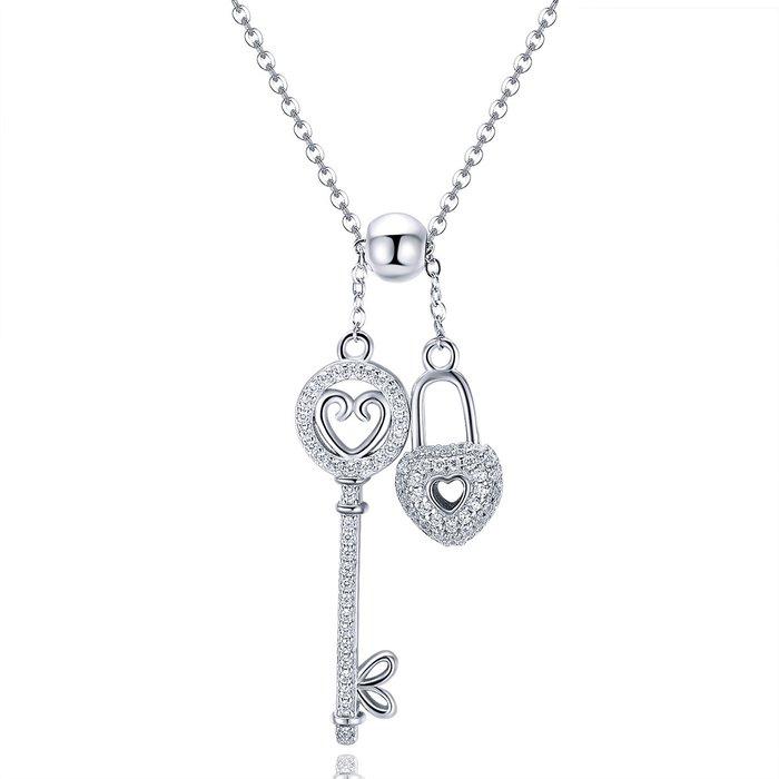 colier din argint cu lacat si cheie 56373 4