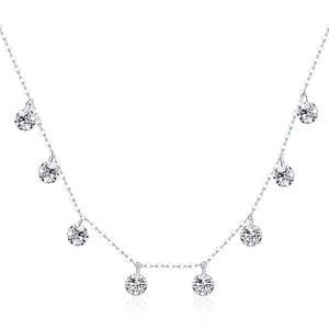 Colier din argint Dazzling Crystals